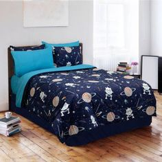 Glow in the Dark Galaxy Invaders Twin Comforter Set by Veratex, Inc - 601651