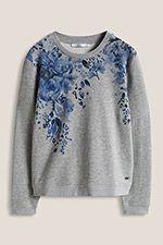 Floral bedrucktes Sweatshirt