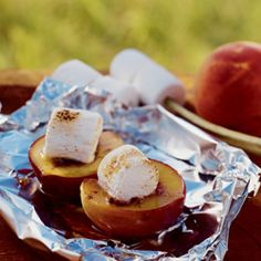 Fun Camping Recipes    http://familyfun.go.com/summer/summer-recipes/camping-recipes-pg-909363/?CMP=NLC-NL_FFUN_Wkdr_040412_camping-recipes-pg#Peachy Caramel Smores;2