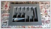 Cubertero terciopelo 2 gris