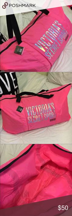 Victoria's Secret Duffle Bag Brand new with tags...really large duffle bag...nylon texture..says Victoria's Secret sport on it...does have a few small stains on it but can be washed off..hardly noticeable Victoria's Secret Bags Travel Bags
