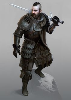 Knight Warrior , Bruno Gauthier Leblanc on ArtStation Fantasy Fighter, Fantasy Male, Fantasy Armor, High Fantasy, Medieval Fantasy, Fantasy Portraits, Character Portraits, Dnd Characters, Fantasy Characters