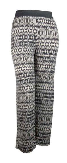 Alfani Women's Ikat Print Wide Leg Jersey Pants
