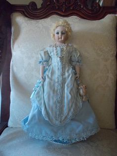 Beautiful Reproduction French Fashion Type Doll Signed Merrie 1987 | eBay