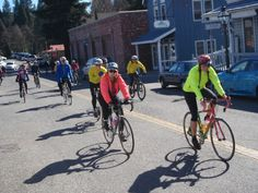 Join the group cycling ride from the Tour of Nevada City Bicycle Shop, leaves at noon, Lemond Loop, all bikes welcome.