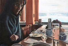 Munich Artists Like to Drink and Draw | Munich Artists - Self Portrait by Brigitte Pruchnow