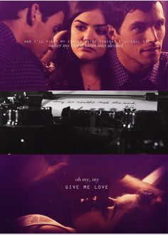 Love this song You Left Me, Give It To Me, Love You, My Love, Family Show, Abc Family, Pll, Ezra And Aria, Ezra Fitz