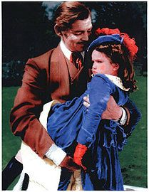 Rhett and Bonnie in Gone With the Wind Go To Movies, Old Movies, Great Movies, Famous Movies, Vintage Movies, Child Actresses, Actors & Actresses, Classic Hollywood, Old Hollywood