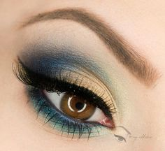 Blue, turquoise and gold