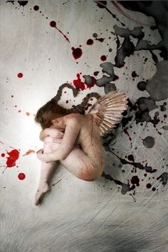 Art Photography by BJ Burrows Angel wings Angels Among Us, Angels And Demons, Fallen Angels, Merry Gentry, Growth And Decay, Ange Demon, Broken Wings, Cult, Arte Horror