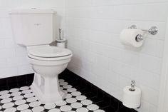 Detaljerna som gör ett svart-vitt art déco-badrum | Sköna hem