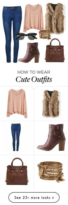 """""""A cute city outfit"""" by aastewart1617 on Polyvore featuring Ally Fashion, MANGO, Charlotte Russe and ALDO"""