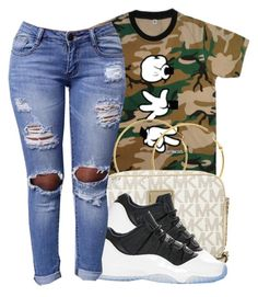 """""""🔥"""" by eazybreezy305 on Polyvore featuring Booger Kids, Melissa Odabash, Michael Kors, Retrò, simpleoutfit, DOPE and 2016"""
