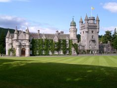 Balmoral Castle is a large estate house in Royal Deeside, Aberdeenshire, Scotland. the current Balmoral Castle was completed in Scotland Castles, Scottish Castles, Scotland Uk, Aberdeen Scotland, English Castles, Visiting Scotland, Scottish Cottages, Germany Castles, Scotland Travel