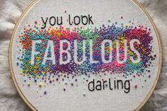 Found on Flickr: Fabulous! - negative space french knots