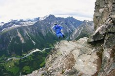 Take sky diving one step further and you have wingsuits