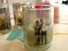 DYI - transfer your favorite pic or quote on candles, pillows, JUST ABOUT ANYTHING!  so doing this.