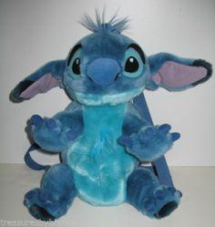Walt Disney World Lilo & Stitch Plush Backpack or Bag Stuffed Animal EUC WDW