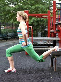 It may not look like much, but this slide lunge gives your butt and thighs a great workout.