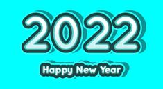 Free Blue New Year Background 2022