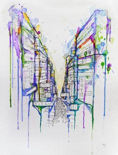 Marc Allante9 A Deluge of Color – Watercolor Paintings by Marc Allante