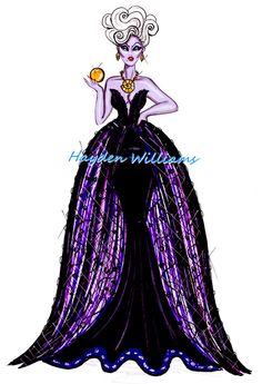 The Disney Diva Villainess collection by Hayden Williams: Ursula