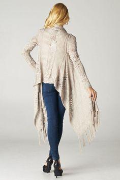 Open Knit Andrea Cardigan