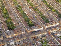 A Birds Eye View of Britain by Jason Hawkes The London Suburbs.