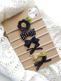 Baby headbands The Perfect Neutrals in Black black headbands baby bow headband set infant headband baby girl Leather Bow Felt Headband, Black Headband, Baby Girl Headbands, Baby Bows, Diy Leather Headband, Diy Bebe, Felt Bows, Diy Couture, Diy Hair Bows