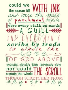 "the love of God // green & dark pink // typographic 8x10"" art print on Etsy, $12.00"