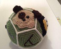 Childrens Activity Ball Pattern - animal applique - Ball tutorial - crochet toy pattern - crochet applique - instant download pdf
