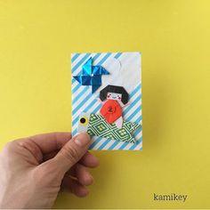 ※ 折り鶴などの伝承作品以外の折り紙作品には創作者が存在します 創作者に無断で、画像や動画で折り方の公開をすることは 絶対におやめください 日本折紙学会のガイドライン         「金太郎」 創作:kamikey         ***********    ... Collage Illustration, Paper Cutting, Origami, Blog, Cards, Origami Paper, Blogging, Maps, Collage