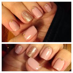 Nude nails w/ sparkle and stones (Nail designs courtesy of Winnie at Butterfly nail salon in Taipei, Taiwan)