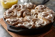 Skillet Cinnamon Rolls Recipe   Sweet Treats   Gooey on the bottom, frosted on the top and baked right in the skillet,these cinnam...