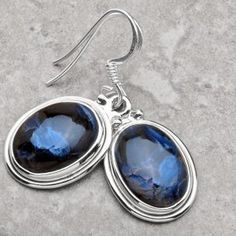 Sale! Pietersite and Sterling Silver Earrings