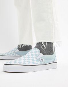 Vans Classic Checkerboard Slip-On In Blue VA38F7QCK a0363cf3ea3