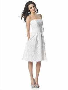 A beautiful dress from the Dessy collection. Perfect for a destination wedding! So cute!