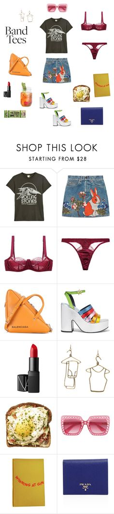 """""""Untitled #137"""" by adwsleigh ❤ liked on Polyvore featuring MadeWorn, Gucci, Fleur of England, Balenciaga, MR by Man Repeller, NARS Cosmetics, Rosie Assoulin, Scotch & Soda and Prada"""