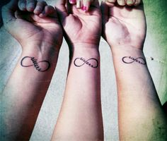 sister tattoos. want this but with Bry and my birthday on it. maybe some day she can get matching