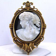 Victorian stone cameo