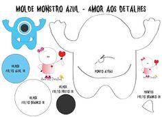 Mãe & Filha Artesanatos: Molde Monstrinhos Feltro_By Amor aos Detalhes