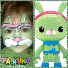 Tweak from octonauts face painting by Fays Painting