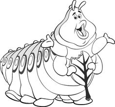 Coloring Page Bugs Life