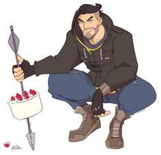 HOW DOOES SOME DRAW THIS FAST?! Hanzo