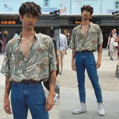 Veja como usar moda retrô no seu estilo, com dicas simples. 80s Fashion Men, Best Mens Fashion, Fashion Models, Vintage Fashion, Fashion Fashion, Fashion Styles, Teen Boy Fashion, Outfits Casual, Style Outfits