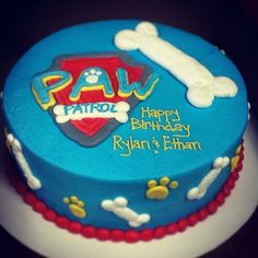 Paw Patrol Cake by janell Paw Patrol Birthday Cake, Puppy Birthday, Birthday Fun, Birthday Ideas, Birthday Cakes, Fondant Cakes, Cupcake Cakes, Cupcakes, Buttercream Cake