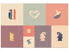 Dribbble - Origami/Kirigami Marks 2013 by Axel Herrmann