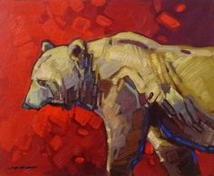 "Cameron Bird BOUNDARY PATROL - GRIZZLY / Canada House Gallery - oil, board 10"" x 12"""