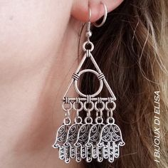 Ethnic style! #orecchini #earrings #hamsa #hamsahand #manodifatima #jewels #handmadejwels #bijoux #bigiotteria #ethnicstyle