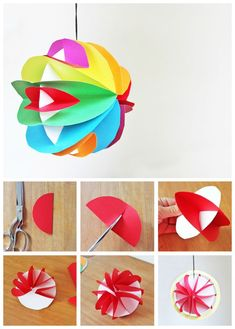 Easy to make 3D paper planets. Add a little glow in the dark paint to make them glow too! #papercrafts #kidsactivities #kidscrafts